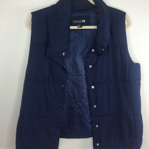 LAST CALL! Forever 21 Navy Puffy Vest